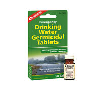 Water Purification Tablets 50 pack Coghlans Iodine Germicidal Potable Treatment