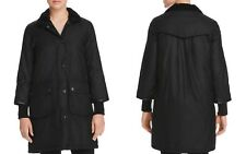 Barbour Faux Sherpa-Trim Snow Mac Wax Women's Coat US 2 Black NWT MSRP $579