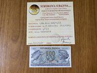 REPUBBLICA BANCONOTA LIRE 500 ARETUSA 23 2 1970 certificata qFDS SUBALPINA