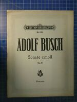 Adolf Busch Sonate c moll Edition Breitkopf Nr.5285 Noten B26549