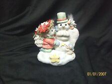 Vintage 1994 Dreamsicles Snowman Stockingholder Dx219 Cherub and Animals