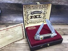 1981 Schrade Wostenholm IXL Sheffield England Stag Canoe Knife-Mint Display Case