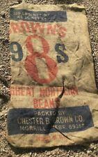"Vintage Brown's Design Burlap Sack Photo Prop 20"" x 32"" "" Craft Upholstery"