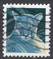 USA Briefmarke gestempelt 26c Wildkatze / 1391