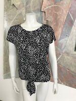 Rafaella Black White Polkadot Blouse Top (A5) SZ Small