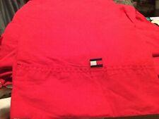 TOMMY HILFIGER Cherry Red 3 Piece 100% Cotton Twin Sheet Set 132722