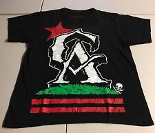 FATAL CA CALI CALIFORNIA GRAPHIC T-SHIRT BLACK RED GREEN MENS SIZE LARGE