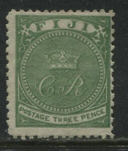 Fiji QV 1871 3d green mint o.g.