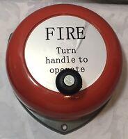 Vintage Hand Cranked Fire Alarm - Great Dinner Gong - 25cm x 24cm -