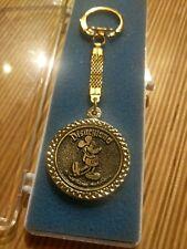 Disneyland Medallion Keychain Walt Disney Productions Vintage in Box