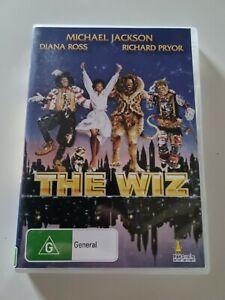 THE WIZ 1978 DVD Michael Jackson Diana Ross Richard Pryor Region 4 Free Postage