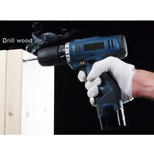 Rechargeable Cordless Drill Power Tool Hand Electric Screwdriver 2 Speed Battery