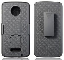 Swivel Belt Clip Holster Shell Combo Case Cover Black Motorola Moto Z Droid