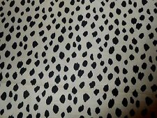3.5Y new fabric REMNANT printed animal dots design dark brown butter cotton