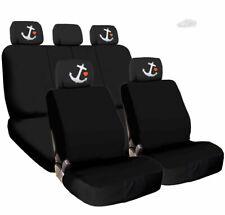 For SUBARU New Car Truck Seat Covers Red Kiss Lip Headrest Black Fabric