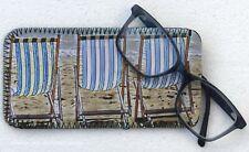 DECKCHAIR SEASIDE NEOPRENE GLASSES CASE POUCH DESIGN SANDRA COEN ARTIST PRINT