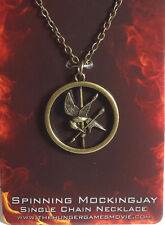 Hunger Games Mockingjay Spinning Necklace- Carded- FREE S&H (HGJW-54)
