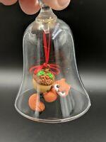 Vintage HALLMARK Keepsake ORNAMENT 1984 BELL RINGER SQUIRREL Glass Bell