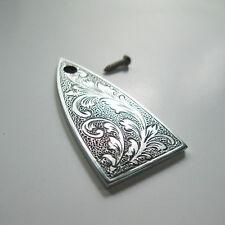 Hand engraved classical pattern aluminum truss rod cover fits ESP LTD guitars