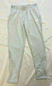UA Women's Loose Fit Command Warm-Up Training Pant Grey 1360766 Size Small