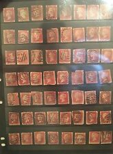 Queen Victoria One Penny Red Stamps - Used - 105 Stamps