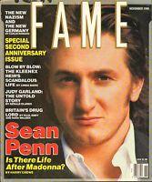 NOV 1990 - FAME entertainment fashion magazine - SEAN PENN