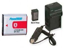 Battery + Charger for Sony DSC-W170/R DSC-W200 DSC-W210 DSC-W210/P DSC-W210/G