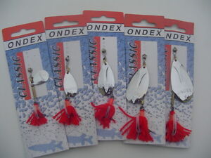 ONDEX CLASSIC FISHING SPINNER / LURE - SILVER - FOR ALL PREDATORY FISHING