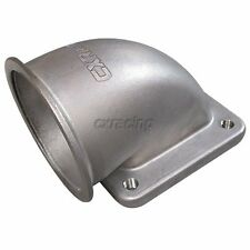 """CXRacing 3"""" Vband 90 Degree Elbow Adapter Flange Cast For T4 Turbo"""