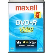 Maxell 8x 4.7GB 120-Minute DVD-R Media 5Pack w/DVD Case