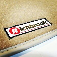 Richbrook Beige Carpet Car Floor Mats with Leather Trim for Jaguar XF (08-12)