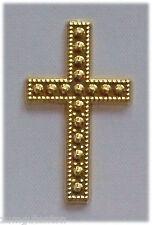 15 Deko Kreuze Gold als Streuteile, für Karten Fotoalben usw