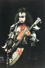 THREE for PRICE of ONE >KISS/GENE SIMMONS HIGH QUALITY GLOSS POSTCARD NEW>FREEpp