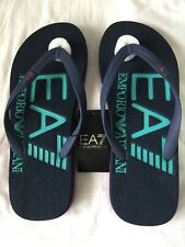 BNWT Men's EMPORIO ARMANI EA7 Navy/Multi Rubber Flip Flops. Sizes: UK 6-9.5
