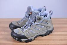 Merrell Moab 2 Mid Waterproof Hiking Boots Grey/Periwinkle Women's 8