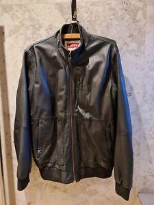 Levi's Leather Jacket - Black - Mens - Medium