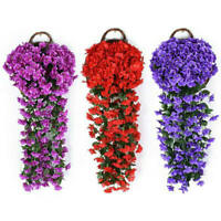 Artifical Hydrangea Flower Violet Hanging Garland Vine Indoor Outdoor Decor Top
