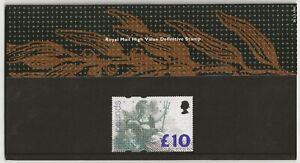 GB 1993 £10 Britannia High Value, Royal Mail presentation pack no.28