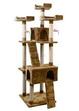 Tiragraffi e strutture albero marrone per gatti
