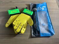 Mitre Delta BRZ Goalkeeper Gloves Size 8 Yellow/Green/Black .