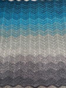 Lap/ Baby Blanket- Hand Crocheted (0548)