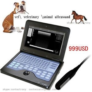 CE VET Portable Digital B Ultrasound machine Scanner,7.5MHz Animal Rectal probe