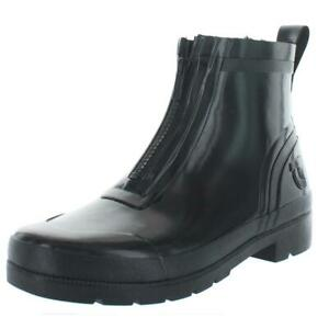 Tretorn Womens Black Ankle Combat Rain Boots Shoes 8 Medium (B,M)  4368