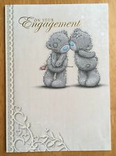 "'On Your Engagement' Card - Me To You - Tatty Bear - 6.75"" x 4.75"" - Glitter"