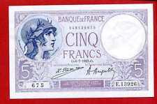 (Ref: E.139)  5 FRANCS VIOLET 6/07/1923 (SUP+)