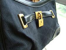 NWT LAUREN Ralph Lauren Signature Cotton Jacquard Small Black Shoulder Bag $158