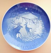 Bing & Grondahl 1980 Christmas Plate Jul Christmas in the Woods Henry Thelander