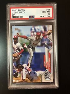 2020 TOPPS #55 OZZIE SMITH SP LEGENDS - PSA 10 - GEM MINT