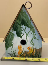 """""""The Branch Office� Decorative Hand Painted Wooden Bird House With Copper Roof"""