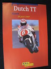 Flyer NS (Nederlandse Spoorwegen) TT Motorraces Assen 28 juni 1997  (TTC)